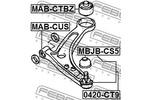 Tuleja wahacza FEBEST  MAB-CTBZ (Oś przednia, na dole) (Z tyłu)-Foto 2