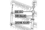 Odbój amortyzatora FEBEST  MD-NA4R (Oś tylna)-Foto 2