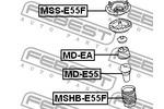 Osłona amortyzatora FEBEST  MSHB-E55F (Oś przednia)-Foto 2