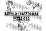 Poduszka silnika FEBEST  MZM-014 (Część tylna)-Foto 2