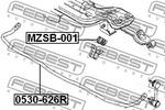Guma drążka stabilizatora FEBEST  MZSB-001 (Tylna Oś, po obydwu stronach)
