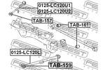 Tuleja wahacza FEBEST  TAB-159 (Oś tylna góra)-Foto 2