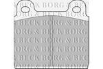 Klocki hamulcowe - komplet BORG & BECK BBP1041 BORG & BECK BBP1041