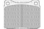 Klocki hamulcowe - komplet BORG & BECK BBP1057
