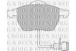 Klocki hamulcowe - komplet BORG & BECK BBP1392