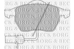 Klocki hamulcowe - komplet BORG & BECK BBP1447