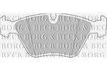 Klocki hamulcowe - komplet BORG & BECK BBP1460
