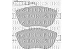 Klocki hamulcowe - komplet BORG & BECK BBP1717