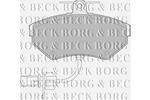 Klocki hamulcowe - komplet BORG & BECK BBP1733