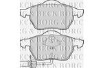 Klocki hamulcowe - komplet BORG & BECK BBP1766 BORG & BECK BBP1766