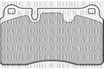 Klocki hamulcowe - komplet BORG & BECK BBP2175 BORG & BECK BBP2175