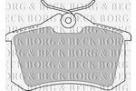 Klocki hamulcowe - komplet BORG & BECK BBP1512