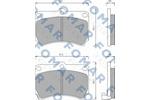 Klocki hamulcowe - komplet FOMAR FRICTION FO 477481 FOMAR FO477481