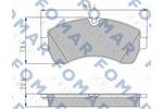 Klocki hamulcowe - komplet FOMAR FRICTION FO 921481 FOMAR FO921481