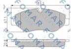 Klocki hamulcowe - komplet FOMAR  FO 921581 (Oś przednia)