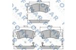 Klocki hamulcowe - komplet FOMAR  FO 924981 (Oś przednia)